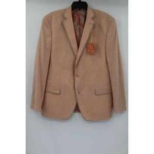 TALLIA men's 44R seersucker sport coat striped